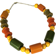 Bakelite Crib Toy Necklace,  Vintage 1940's