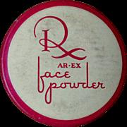 Vintage Cosmetic Tin, Deco 30's 40's,  AR EX