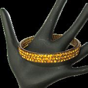 Celluloid Rhinestone Bracelet, 1920's Deco Sparkle