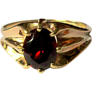 Ostby Barton Rose Gold Ring, Belcher Set Garnet