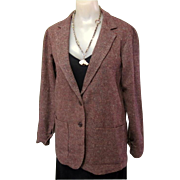 Vintage Wool Jacket, Tweed Classic, 80's