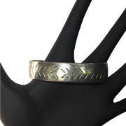 Vintage Sterling Cuff Bracelet, 1980's Artist Made