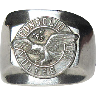 Vintage Service Ring, Consolidated Vultee Aircraft Company, 1945