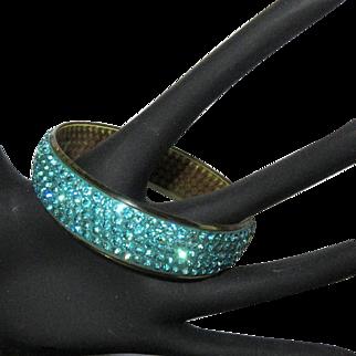Celluloid Rhinestone Bracelet, 1920's Deco Sparkle, 5 Row