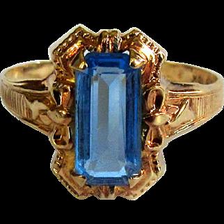 Ostby Barton Rose Gold Ring, 10K Art Nouveau