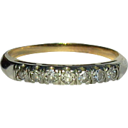 14K Diamond Band, Vintage Ring, Anniversary