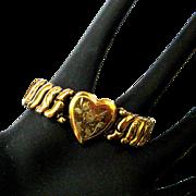Vintage Sweetheart Bracelet, Heart Expansion, 1940's