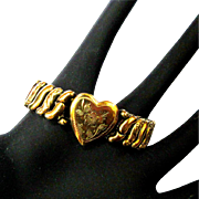 Vintage Sweetheart Bracelet, Heart Expansion, 1940's