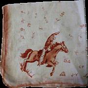 Vintage Handkerchief, Western Cowboys & Ranch Brands