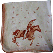 Vintage Handkerchief, Western Cowboys & Ranch Brands