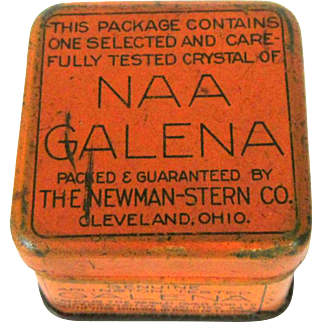 NAA Galena Square Metal Container, Vintage Tin