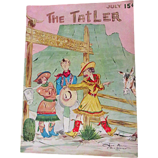 The Tatler, Vintage Magazine, 1940 Palm Springs