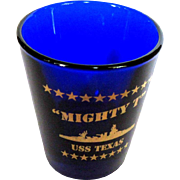 USS Texas Shot Glass, Mighty T  Battleship