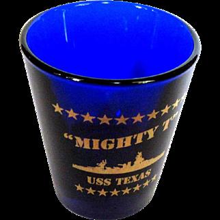 USS Texas Shot Glass, Mighty T  Battleship