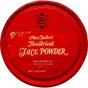 Vintage Max Factor Tin, Theatrical Face Powder