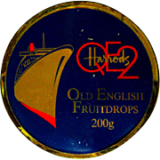 QE2 Vintage Tin, Harrods Fruitdrops