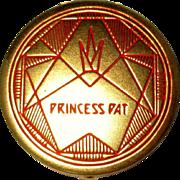 Vintage Rouge Compact, Deco Princess Pat
