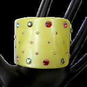 Rhinestone Bracelet, Hinged 50's Clamper