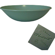 50's Libbey Plastic Serving Bowl, Vintage Aqua Woodcrest