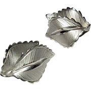 Leaf Earrings, Vintage Giovanni  1960's