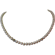 Faux Pearl Necklace, Vintage 1980's