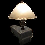 Deco Boudoir Lamp, Depression Glass Piano, 1930's