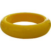Bakelite Bangle Bracelet, Vintage Creamed Corn