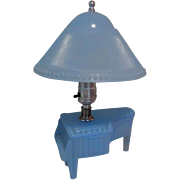 Deco Boudoir Lamp, Depression Glass Piano, 1930's