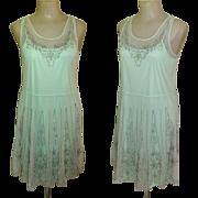 Vintage Beaded Dress, Flapper Revival, Mesh Deco Design