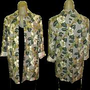 Vintage Jacket, Floral Duster, Tropical