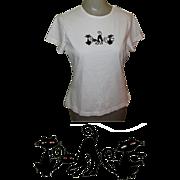 Cat Shirt, Sequin Eyes, Vintage Black Cats, Halloween