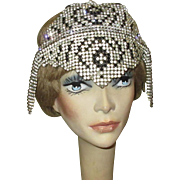 Rhinestone Deco Head Piece, Flapper Headband, 1920's