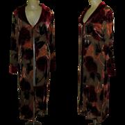 Vintage Velvet Duster, Floral Burnout, Jacket / Coat