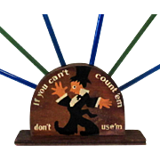 Art Deco Cocktail Party Table Display, Swizzle Stick Holder