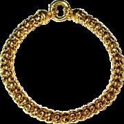 18K Gold Bead Bracelet, Vintage 60's Egyptian