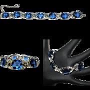 Vintage Jomaz, Mazer Rhinestone Bracelet, 1940's 50's