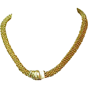 80's Chain Necklace & Bracelet, Handsome Set, Chunky Gold Toned