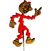 Reddy Kilowatt Pin, Electric Man Advertising , Vintage M.R.