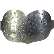 Sweetheart Bracelet, Trench Art, 1945,  WWII France