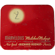 Vintage Makeup Tin, Hudnut Marvelous, 1930's Art Deco