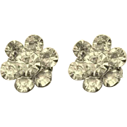 Rhinestone Brooches, Floral, Vintage Scatter Pins