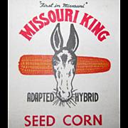 Missouri King Seed Corn, Memo Note book, Advertising