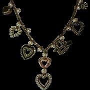 Vintage Heart Charm Necklace, Glass Works Studio, Valentine