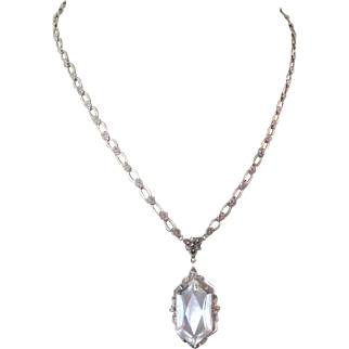 Edwardian Crystal Necklace, Floral Chain