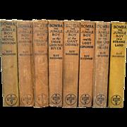 Vintage Set of Eight Bomba the Jungle Boy Series Books 1920s Rare