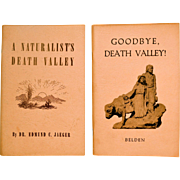 Vintage California History Death Valley  and Naturalist Information.