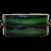 Vintage Large Green Enamel Three Piece Roaster