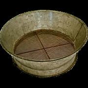 Antique Large Kreamer Tin Sieve Strainer  Kitchenware