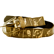 Vintage 1960s 70s Rock and  Roll Belt Lennon, Hendrix, Bowie, Jagger, Dylan, and More