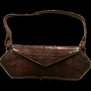 Vintage Alligator Handbag Purse Excellent Vintage Fashion